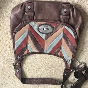 Fossil Chevron Crossbody and Wallet